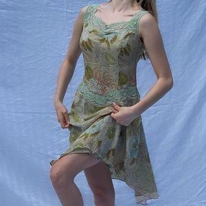 Vintage silk dress Sz L